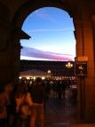 Prachtige zonsondergang op Plaza Mayor