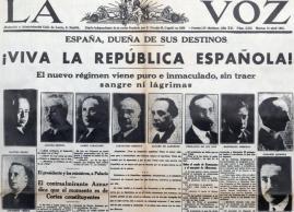 Nieuws in de krant, Spanje is een republiek.